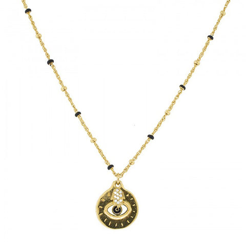 Blee Inara Enamel Evil Eye Necklace