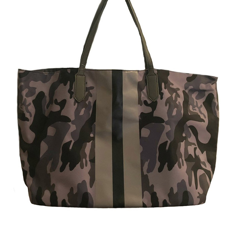 Camouflage Striped Tote