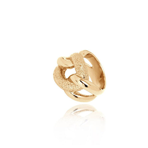 TOV Diamond Effects Gold Gourmet Ring