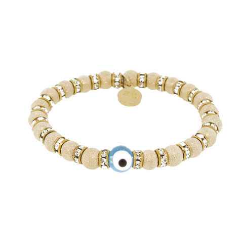 Blee Inara Evil Eye Gold Stretchy Bracelet