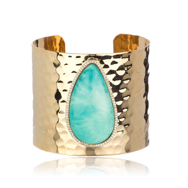 Hammered Turquoise Cuff