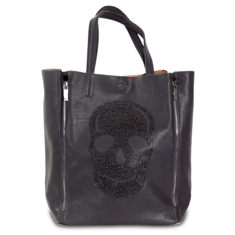 Kimberley Model Black Skull Tote