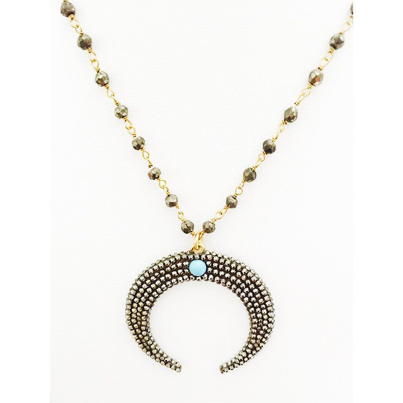 Roni Blanshay Double Horn Necklace