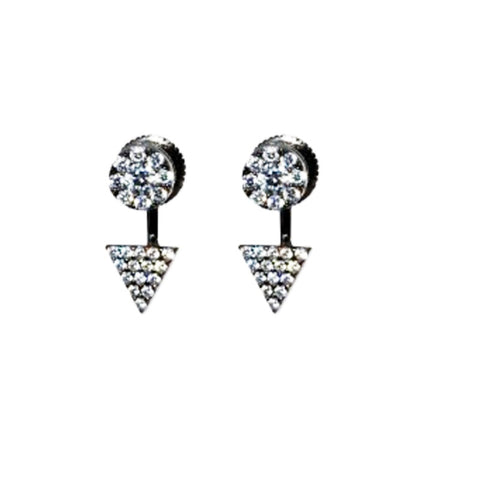 Circle Triangle Stud Earrings