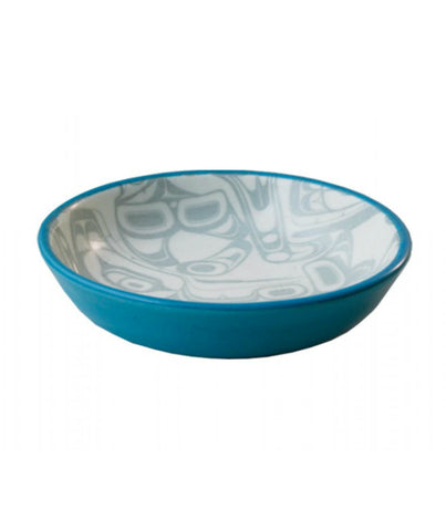 Small Dish - Orca (Turquoise/Black)