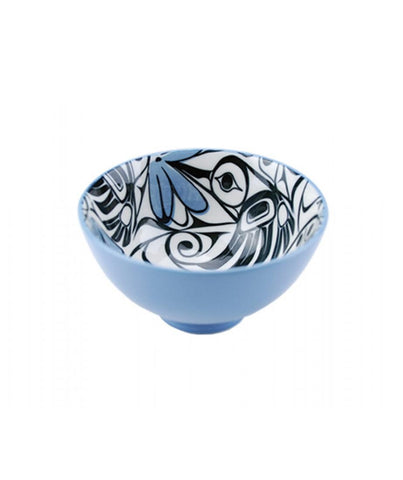 Small Bowl - Hummingbird (Blue/Black)