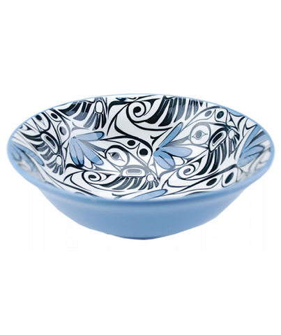Large Bowl - Hummingbird (Blue/Black)
