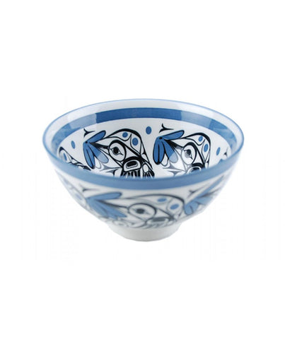 Medium Bowl - Hummingbird (Blue/Black)