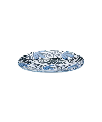 Small Oval Platter - Hummingbird (Blue/Black)