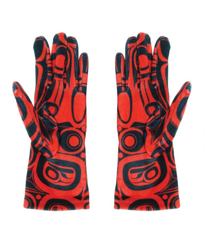 Women's Gloves - Raven (Red)