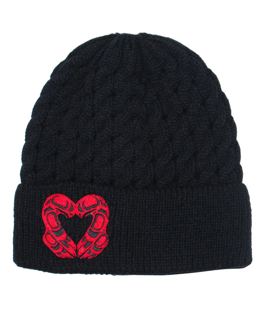 Embroidered Knitted Hat - Eagle Heart