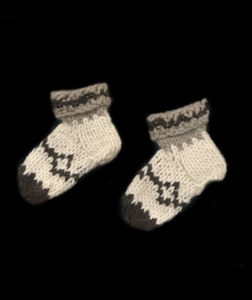 Large Youth Sockettes - Coast Salish Design