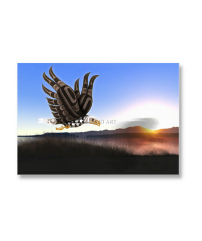 "Framed Art Card - Flight 9"" x 12"""