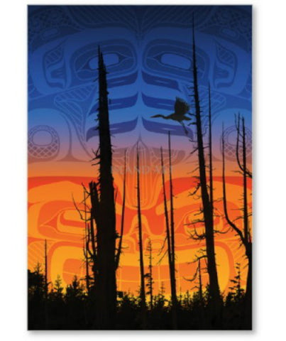 "Framed Art Card - Nimpkish Sunset (9"" x 12"")"