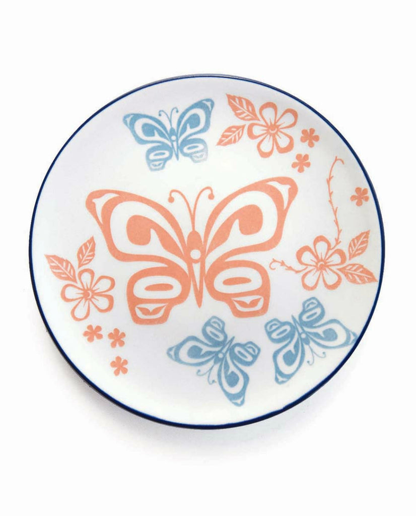 Plate - Butterfly and Wild Rose (Porcelain)