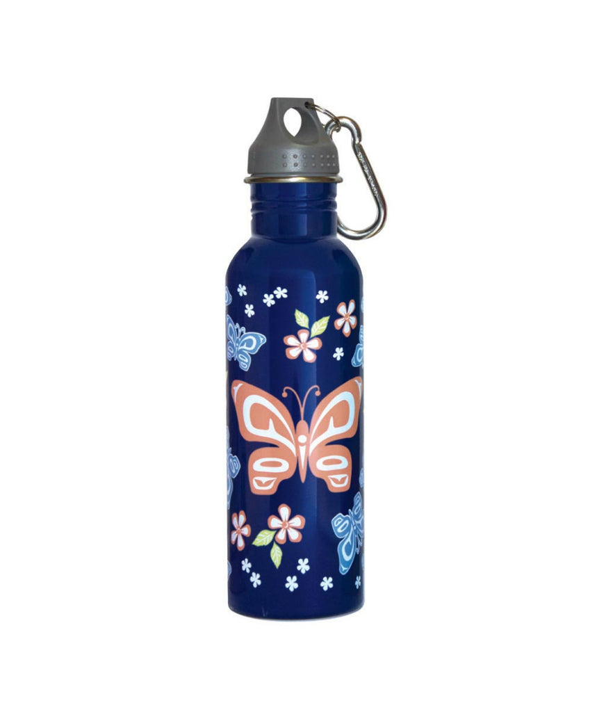 Water Bottle - Butterfly and Wild Rose (25oz)