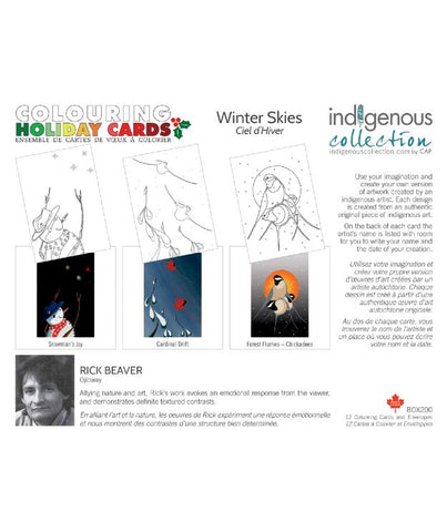 Colour Your Own Card Set - Winter Skies (Assorted)