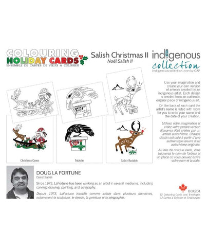 Colour Your Own Card Set - Coast Salish Christmas II (Assorted)