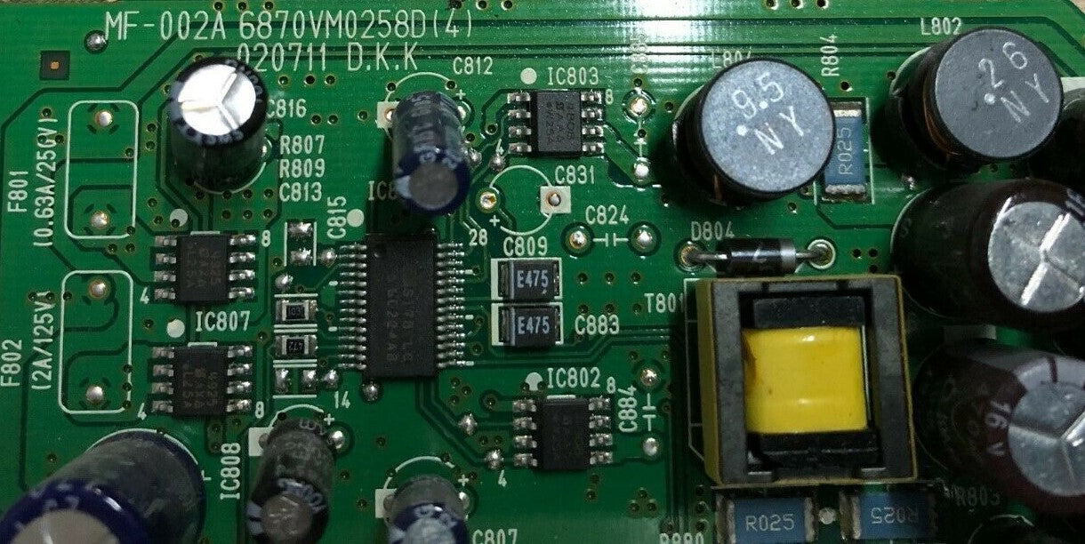 6870VM0258D board from Philips 20PFL9925