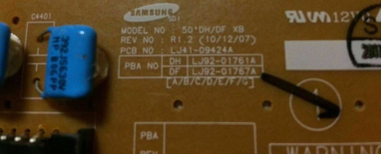 X-Buffer Board LJ41-09424A, 50'DH/DF
