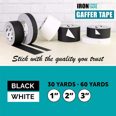 White Gaffers Tape Two Pack - 2 Inch x 30 Yards Gaffer Tape Roll