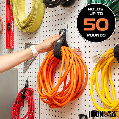 Extension Cord Wrap Organizer, 6 Piece Multi-Pack of Storage Straps - 2 Medium, 2 Large, and 2 XL Hook and Loop Hanger Wraps for Power Cables, Hoses, Ropes, and More