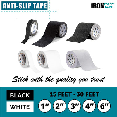 Clear Anti Slip Tape - 4 inch x 30 Foot, 80 Grit Non Slip Grip Tape