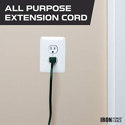 20 Ft Green Extension Cord 2 Pack - 16/2 Durable Electrical Cable with 3 Power Outlets