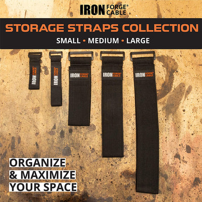 Extension Cord Wrap Organizer, 20 Piece Multi-Pack of Elastic Storage Straps - Two 9 Inch, Ten 12 Inch, and Eight 18 Inch Stretchy Cinch Straps for Power Cables, Hoses, Ropes