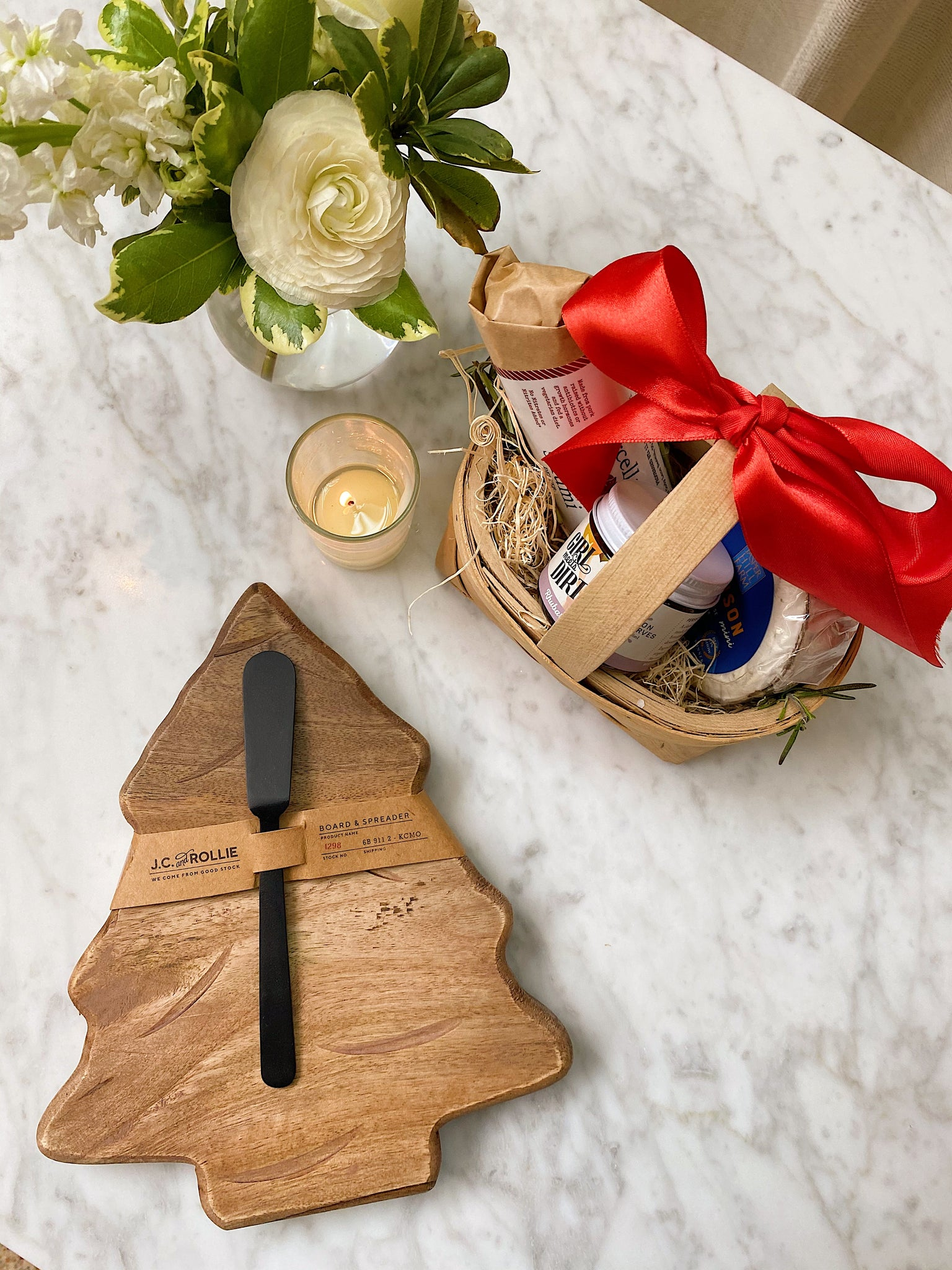 Holiday Tree Cheese Board + Spreader