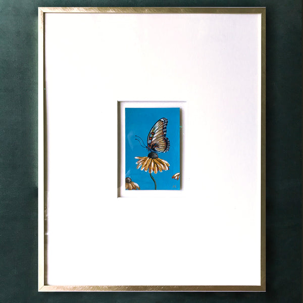 Extra Wide Mat Framed Tiny Painting