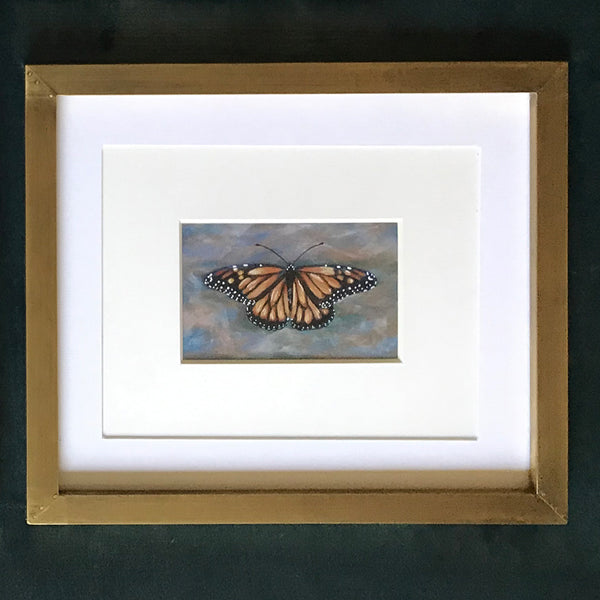 Monarch Painting Brass Frame
