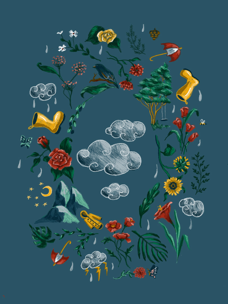 Rain boots Cloud Illustration by Aimee Schreiber
