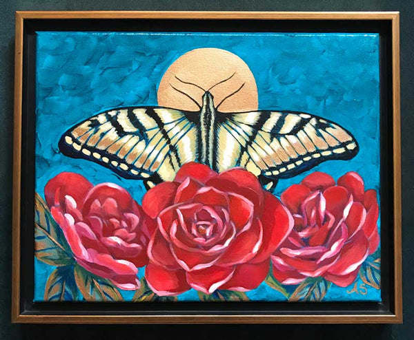 Swallowtail butterfly symbolism meaning painting