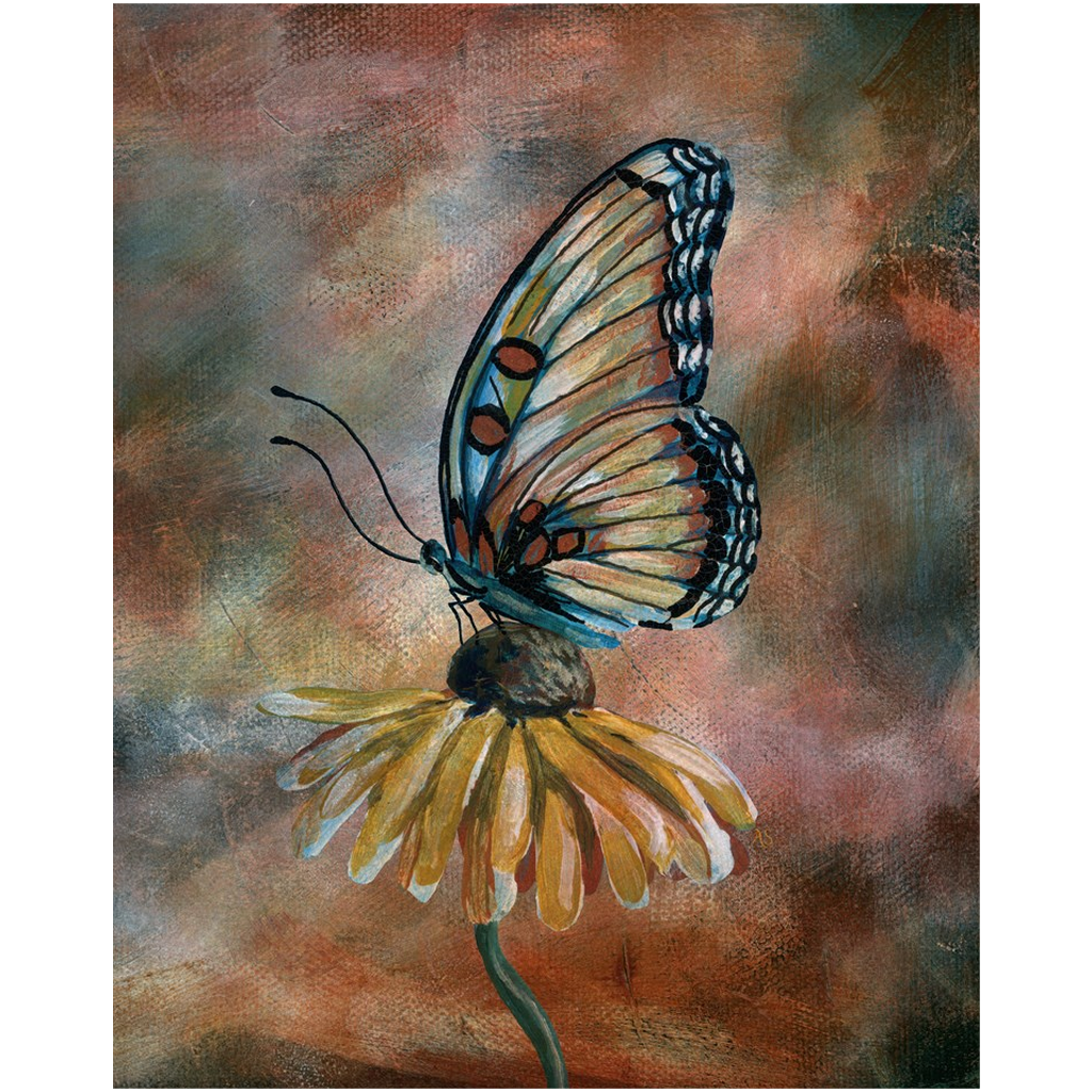 Vintage Butterfly IV Canvas Print