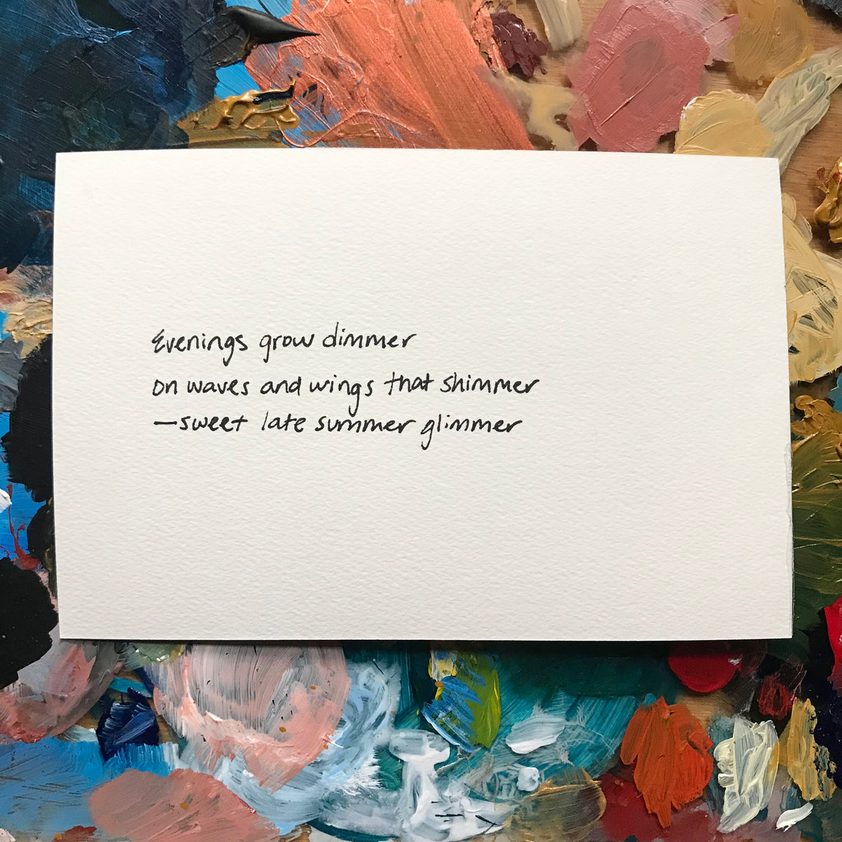 """Late Summer"" Painted Poetry Postcard 4x6"