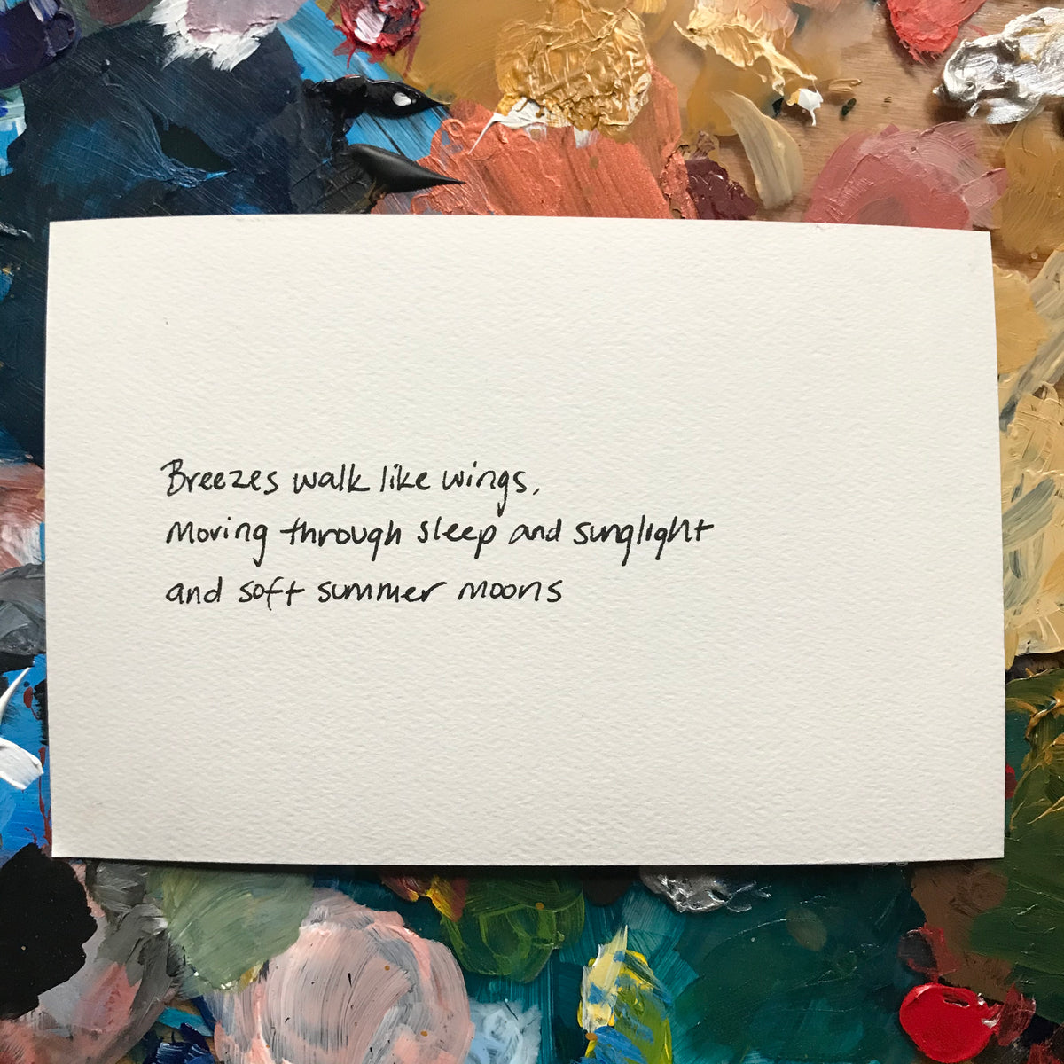 """Breezes"" Painted Poetry Postcard 4x6"