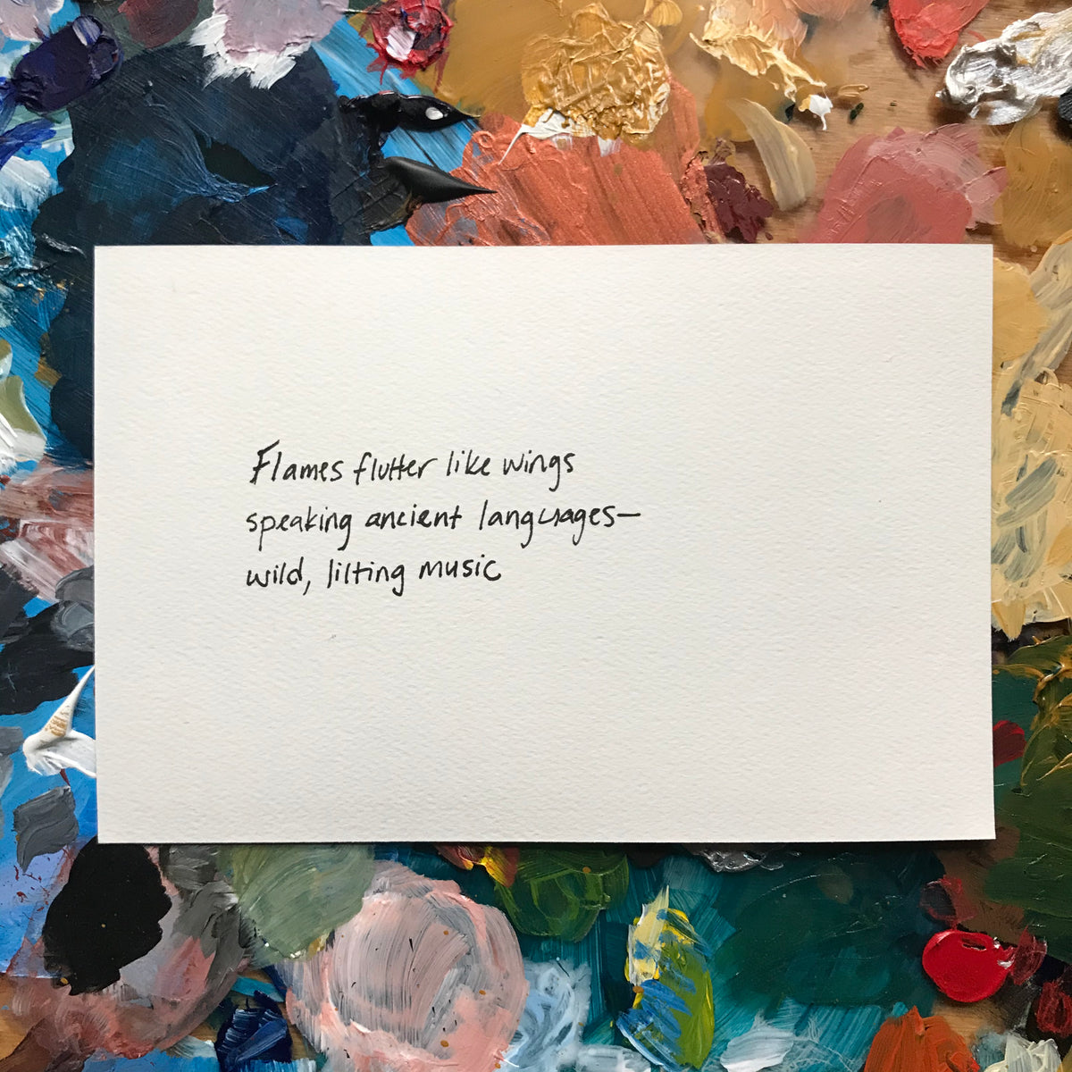 """Music"" Painted Poetry Postcard 4x6"