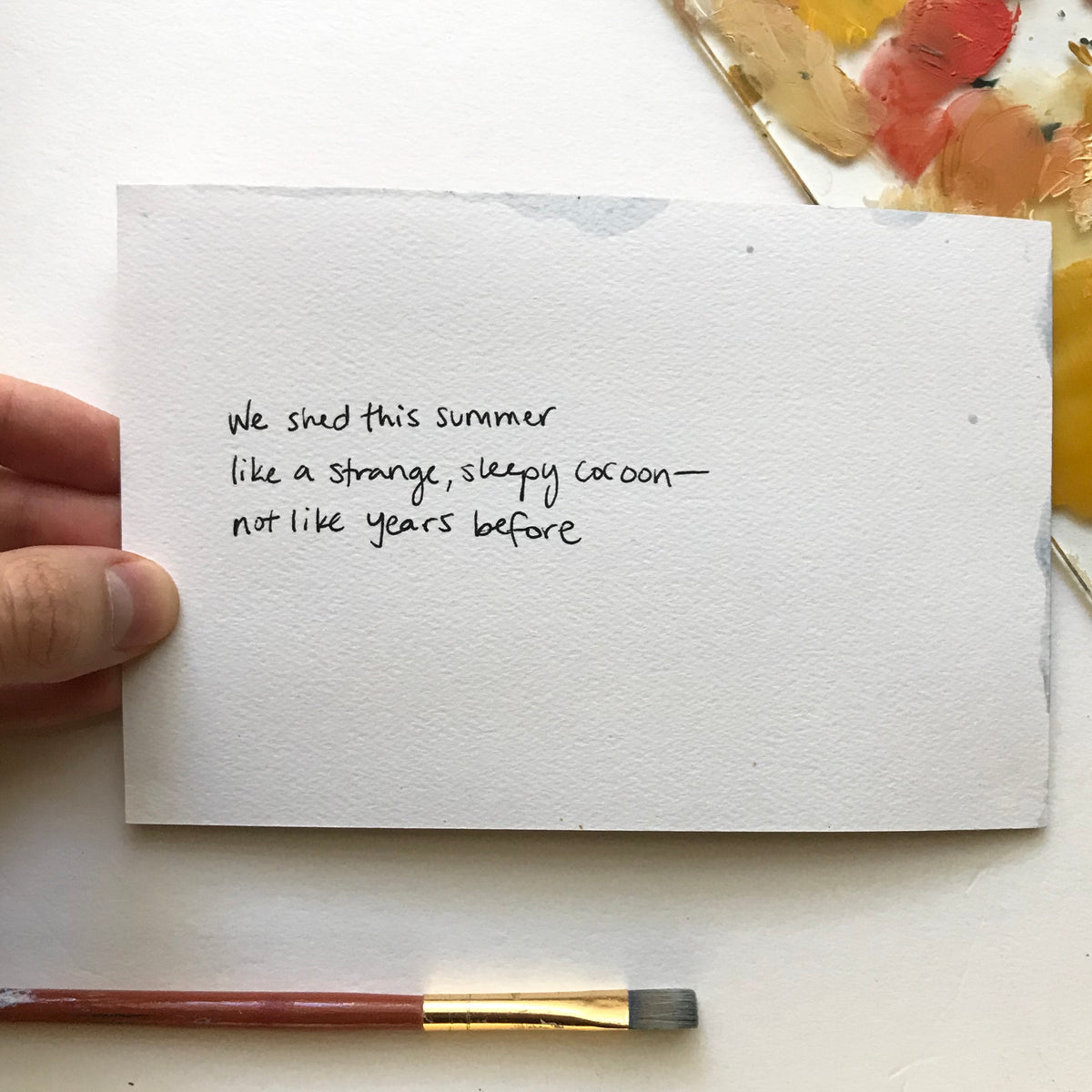 """Summer"" Painted Poetry Postcard 4x6"