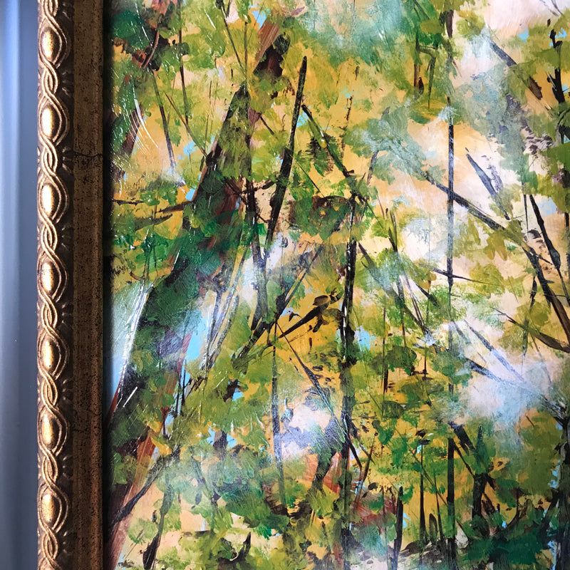 Fall forest nature painting texture detail by Aimee Schreiber