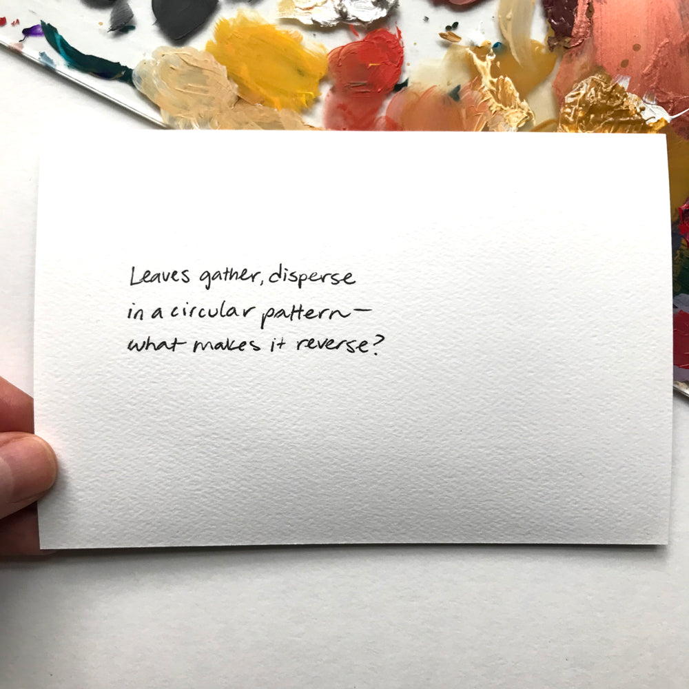 haiku poetry postcard painting by Aimee Schreiber