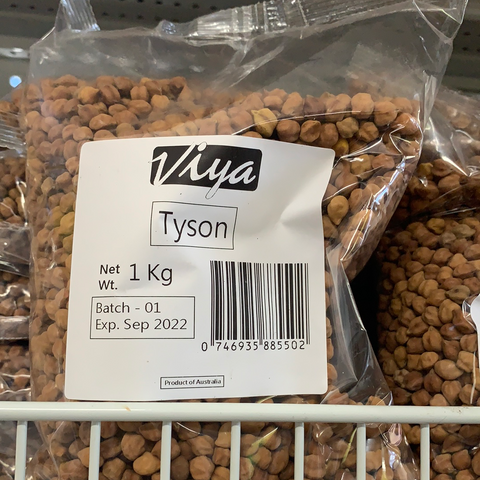Tyson Chickpeas Brown Chana 1 kg Via