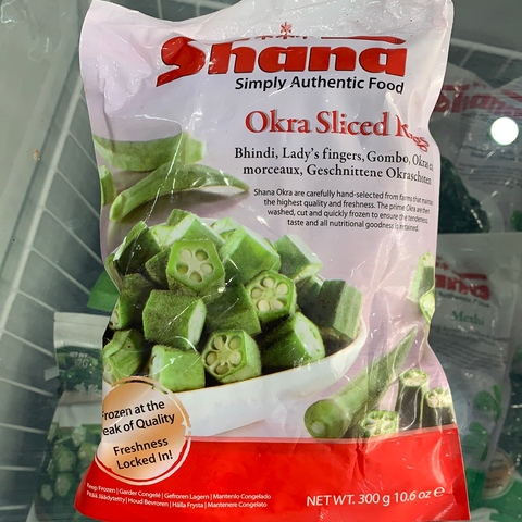 Okra Sliced Rings Shana 300g