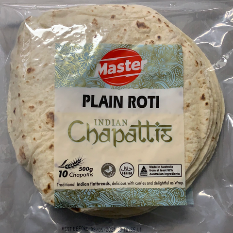 Plain Roti 10pc Indian Chappatis Master
