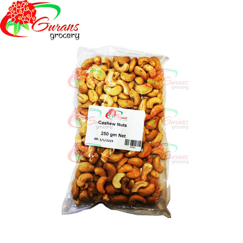 Cashew Nuts Whole 250g Gurans