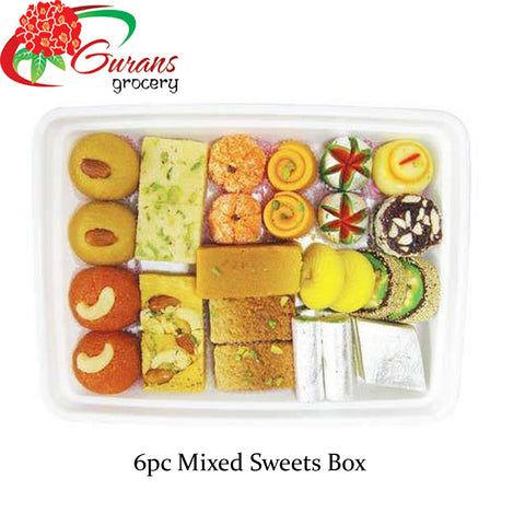 Fresh Mixed sweets 6 pc 250g Mithai Master
