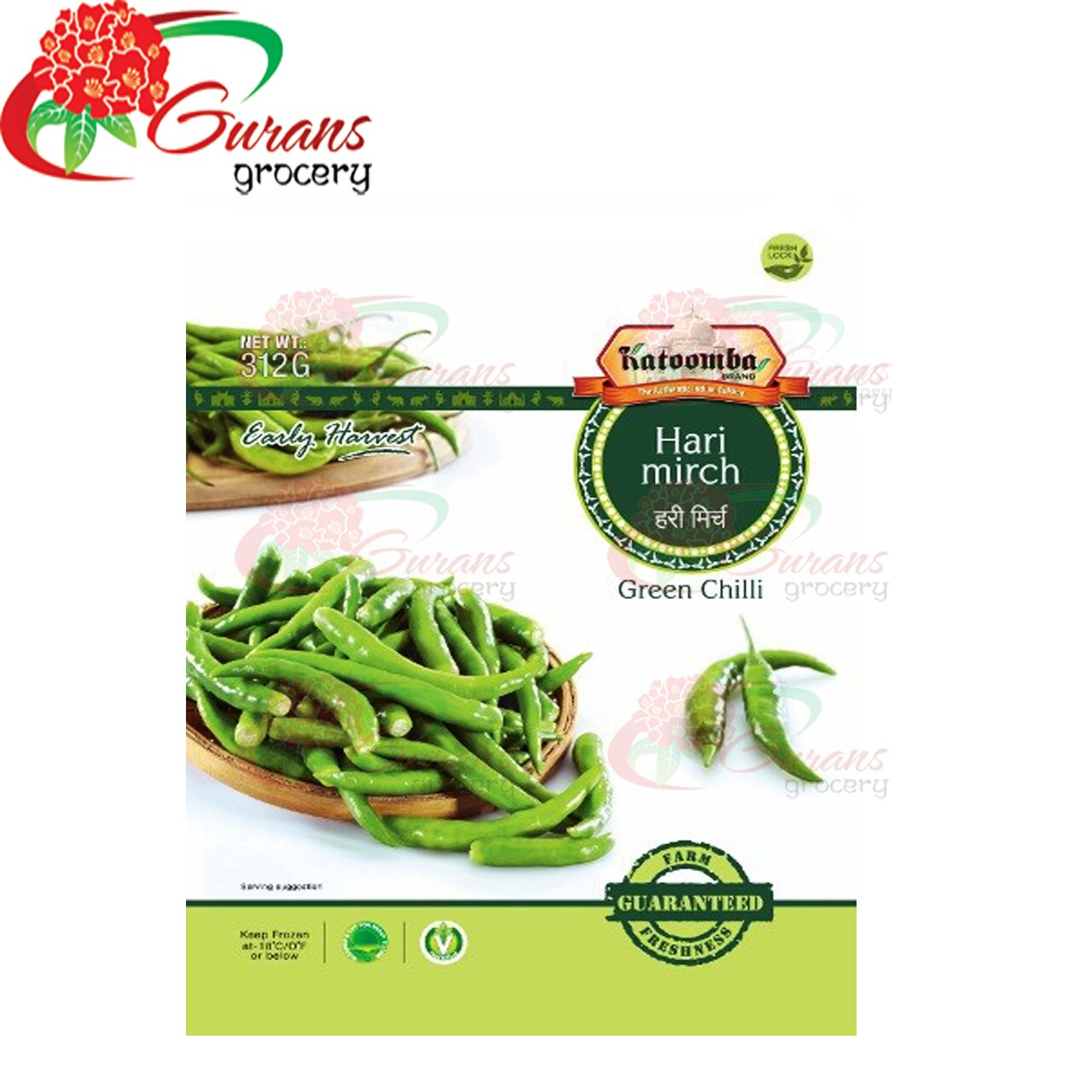 Frozen Green Chilli 312g