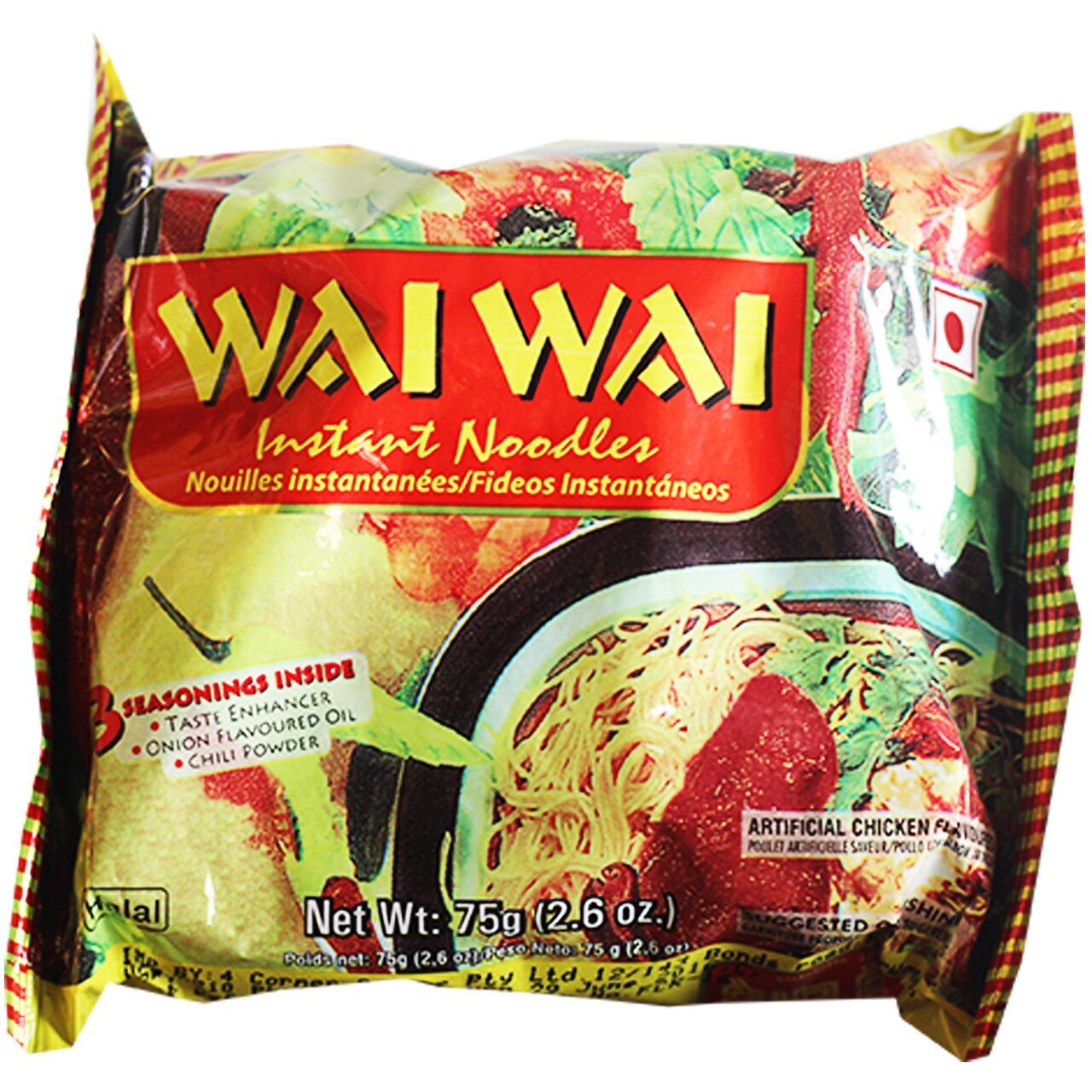 Wai Wai Chicken Noodles - 5Pkt