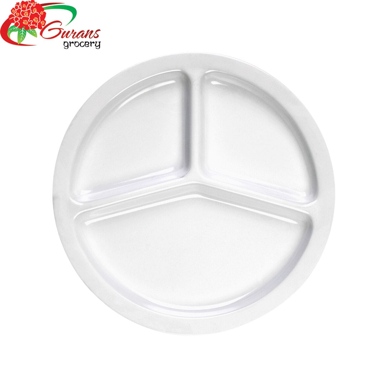 "10"" Plastic Compartment Dinner Plate 50pcs"