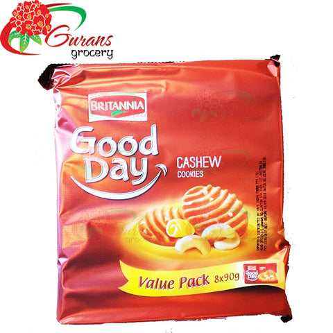 Britannia Good Day Cashew Cookies 8x90 gm Value pack